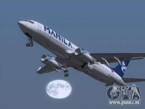 Boeing 737-800 Spirit of Manila Airlines pour GTA San Andreas salon