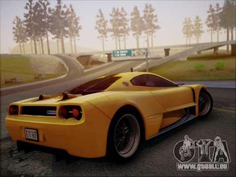 Joss JP1 2010 Supercar V1.0 pour GTA San Andreas sur la vue arrière gauche