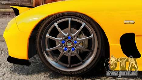 Mazda RX-7 FD3S pour GTA 4 Vue arrière