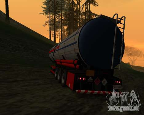 Semi-remorque Container Xoomer pour GTA San Andreas laissé vue