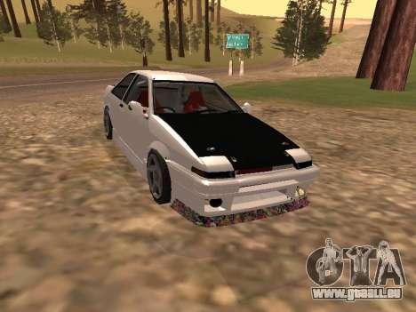 Toyota Corrola GTS JDM für GTA San Andreas