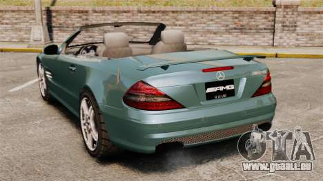 Mercedes-Benz SL65 2007 AMG v1.2 für GTA 4 hinten links Ansicht