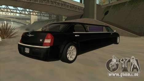 Chrysler 300C Limo 2006 für GTA San Andreas zurück linke Ansicht