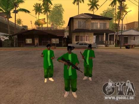 Nouvelle peau Groove st. pour GTA San Andreas deuxième écran