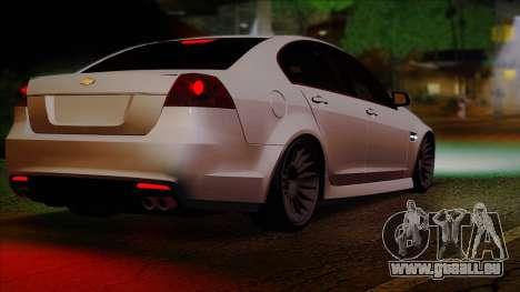 Chevrolet Omega pour GTA San Andreas sur la vue arrière gauche