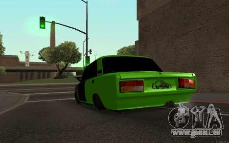 VAZ 2105 Rogue pour GTA San Andreas sur la vue arrière gauche