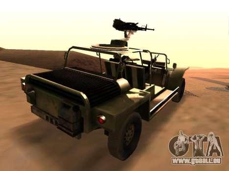 FAV de Battlefield 2 pour GTA San Andreas sur la vue arrière gauche