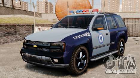 Chevrolet Trailblazer 2002 Massachusetts Police pour GTA 4