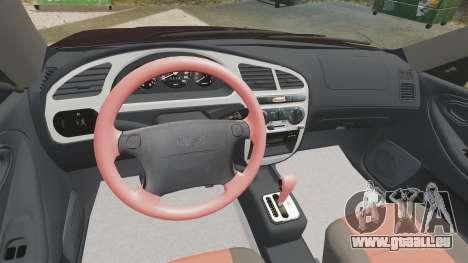 Daewoo Lanos Sport US 2001 pour GTA 4 vue de dessus