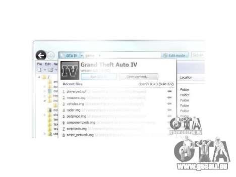 OpenIV 0.9.3 pour GTA 4