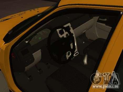 LADA Priora 2170 Taxi für GTA San Andreas zurück linke Ansicht