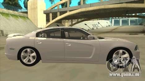 Dodge Charger RT 2011 V2.0 pour GTA San Andreas sur la vue arrière gauche
