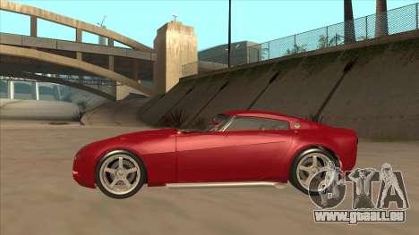 Melling Hellcat Custom pour GTA San Andreas sur la vue arrière gauche