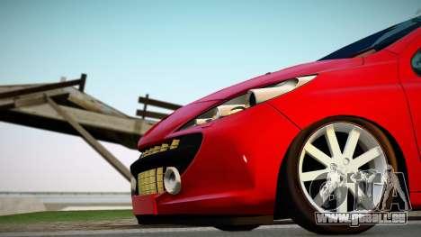 Peugeot 207 pour GTA San Andreas vue de droite