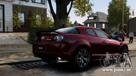 Mazda RX-8 R3 2011 pour GTA 4 vue de dessus