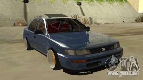 Toyota Corolla 1.6 1997 Hellaflush pour GTA San Andreas laissé vue