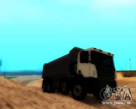 Scania P420 8X4 Dump Truck pour GTA San Andreas sur la vue arrière gauche