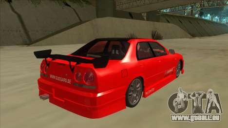Nissan Skyline ER34 JDMGarage pour GTA San Andreas vue de droite