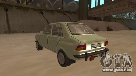 Zastava 1100 pour GTA San Andreas vue arrière