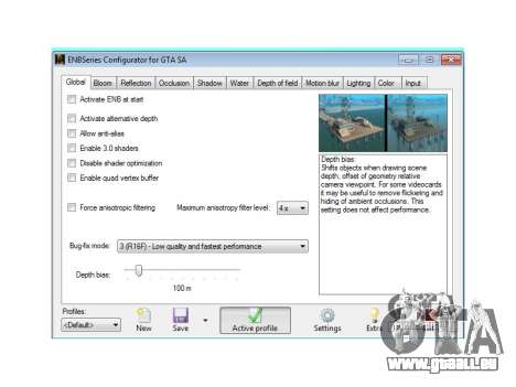 ENB Series Configurator (ENB CFG) pour GTA San Andreas