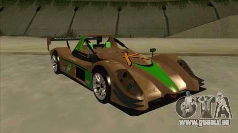 Radical SR8 RX pour GTA San Andreas laissé vue