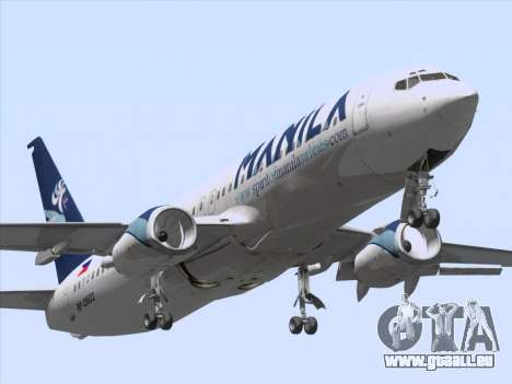 Boeing 737-800 Spirit of Manila Airlines für GTA San Andreas linke Ansicht