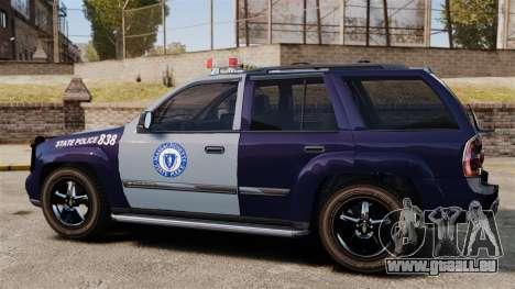 Chevrolet Trailblazer 2002 Massachusetts Police für GTA 4 linke Ansicht