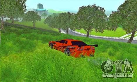 Elegy Sport pour GTA San Andreas laissé vue