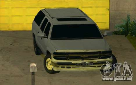 Chevrolet Suburban pour GTA San Andreas vue arrière