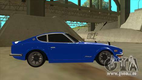 Nissan Wangan Midnight Devil Z S30 für GTA San Andreas zurück linke Ansicht