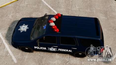 Chevrolet Tahoe 2007 De La Policia Federal [ELS] pour GTA 4 est un droit