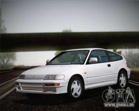 Honda CR-X 1991 pour GTA San Andreas sur la vue arrière gauche