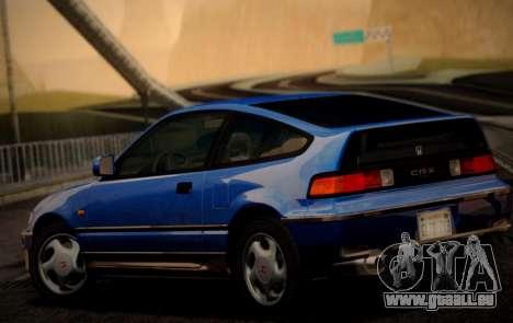 Honda CR-X 1991 pour GTA San Andreas laissé vue