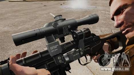 Dragunov sniper rifle v2 pour GTA 4 quatrième écran