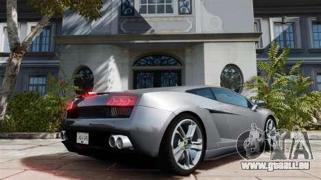 Lamborghini Gallardo LP560-4 [Final] v1 pour GTA 4 Vue arrière de la gauche