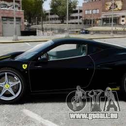 Ferrari 458 Italia 2010 Wheelsandmore 2013 für GTA 4 linke Ansicht