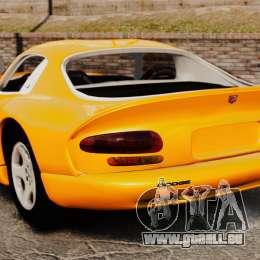 Dodge Viper 1996 pour GTA 4 Vue arrière de la gauche