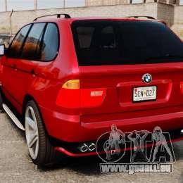 BMW X5 4.8iS v3 für GTA 4 hinten links Ansicht