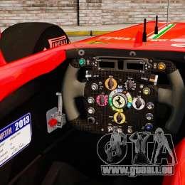 Ferrari F138 2013 v6 pour GTA 4 est une vue de l'intérieur