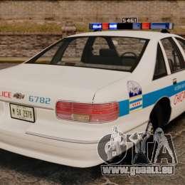 Chevrolet Caprice 1994 [ELS] pour GTA 4 Vue arrière de la gauche