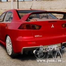 Mitsubishi Lancer Evolution X pour GTA 4 Vue arrière de la gauche