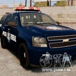 Chevrolet Tahoe 2007 De La Policia Federal [ELS] pour GTA 4