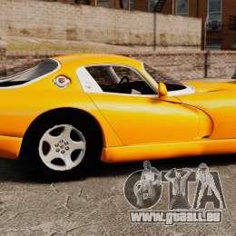 Dodge Viper 1996 pour GTA 4 est une gauche