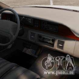 Chevrolet Caprice 1994 [ELS] pour GTA 4 est une vue de l'intérieur