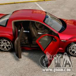 Mazda RX-8 R3 2011 für GTA 4 Seitenansicht