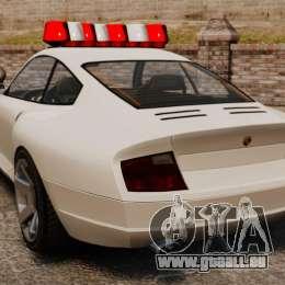 Police Comet pour GTA 4 Vue arrière de la gauche