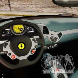 Ferrari 458 Italia 2010 Wheelsandmore 2013 für GTA 4 hinten links Ansicht