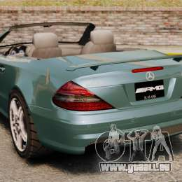 Mercedes-Benz SL65 2007 AMG v1.2 pour GTA 4 Vue arrière de la gauche