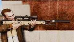 Fusil de sniper AW L115A1 avec un silencieux v9