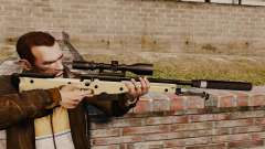Fusil de sniper AW L115A1 avec un silencieux v2